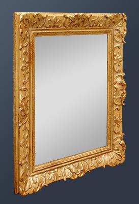 Miroir ancien style louis xiv for Glace miroir moderne