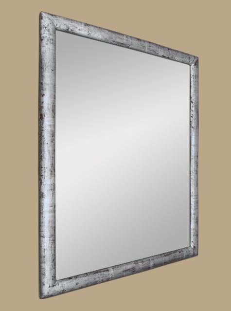 miroir bois de ch ne argent patin la feuille. Black Bedroom Furniture Sets. Home Design Ideas