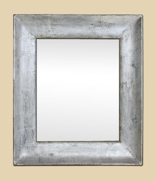 Miroir bois argent patin ann es 1950 for Miroir 50 x 50 cm