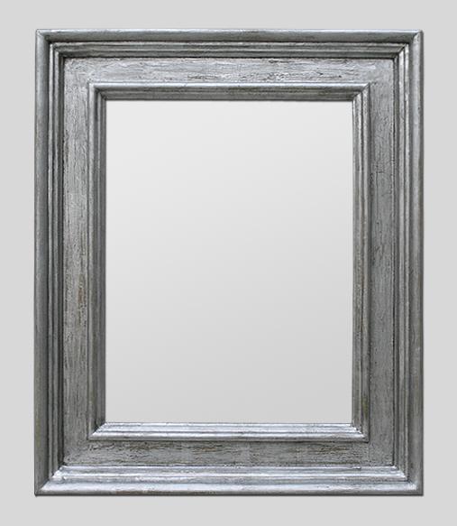 Grand miroir argent renaissance italienne couleur acier for Miroir acier