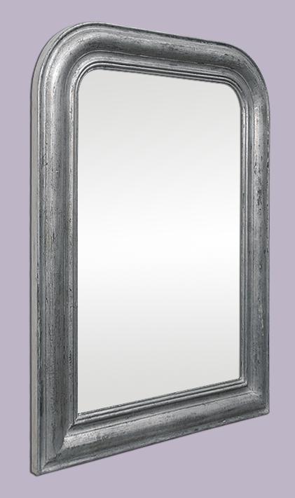 miroir argent patin style louis philippe ancien. Black Bedroom Furniture Sets. Home Design Ideas