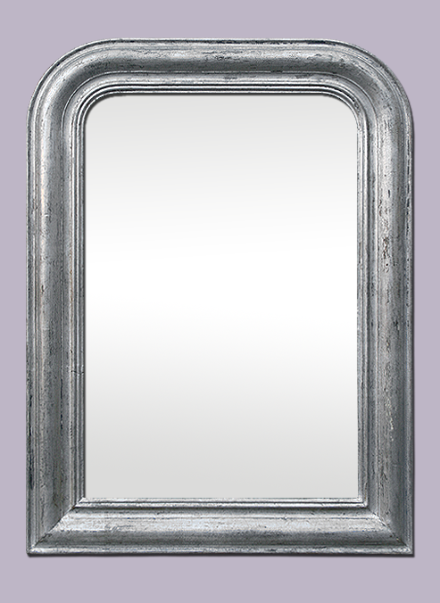 Miroir ancien patin pictures to pin on pinterest for Miroir baroque gris