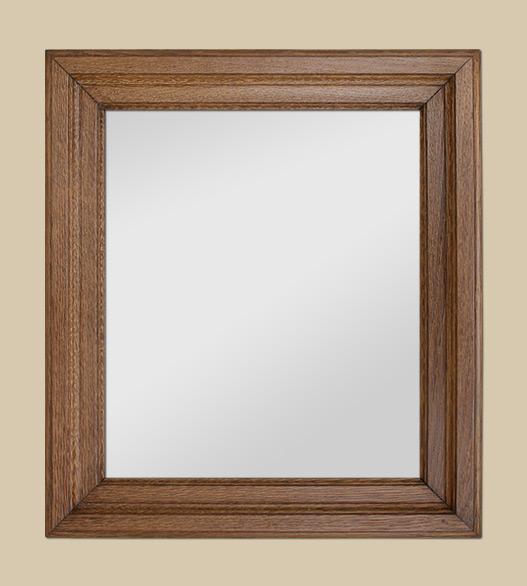 glace miroir ancien en bois ch ne clair moulur