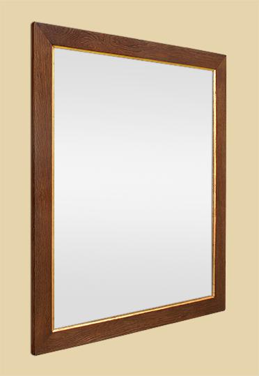 Miroir bois ancien ch ne blond clair gorge dor e for Glace miroir moderne