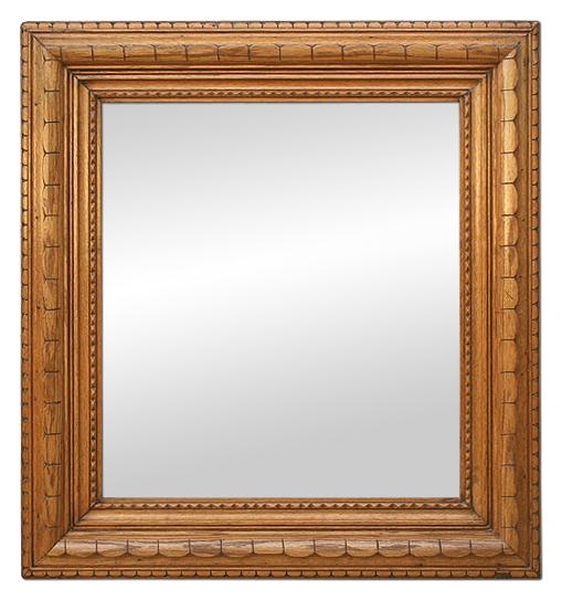 Miroir bois clair for Miroir rectangulaire fly