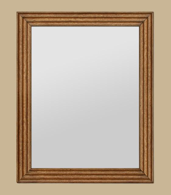 miroir en bois ch ne clair cannelures