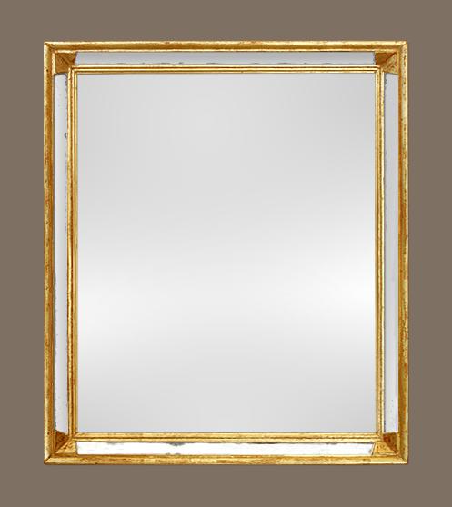 Miroir bois dor parecloses ann es 60 70 for Miroir 60 x 70