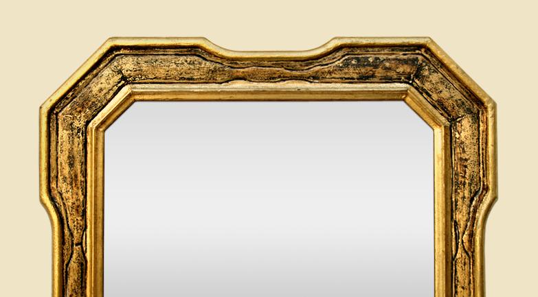 Miroir dor patin ancien octogonal ann es 60 70 - Miroir ancien dore ...