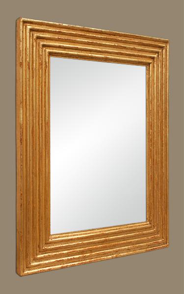 Miroir bois dor ancien sculpt d cor de cannelures for Glace miroir moderne