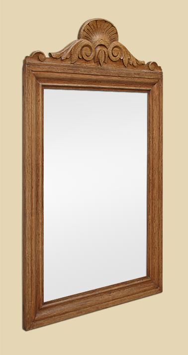 miroir bois sculpt fronton ancien