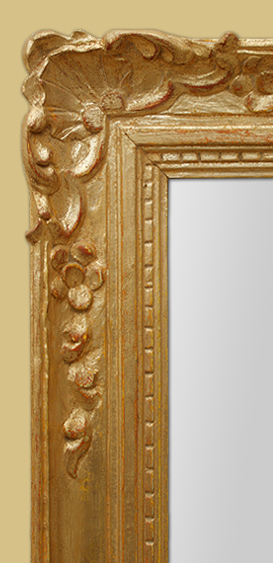 glace miroir dor style louis xiv. Black Bedroom Furniture Sets. Home Design Ideas