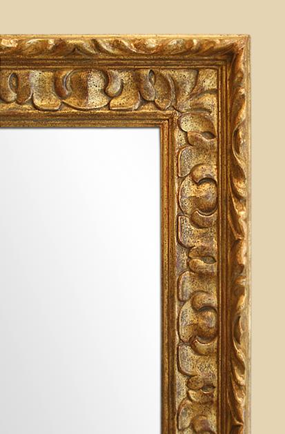 miroir bois dor sculpt moderne style espagnol. Black Bedroom Furniture Sets. Home Design Ideas