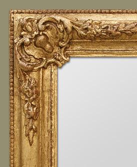 glace miroir dor style romantique coquilles. Black Bedroom Furniture Sets. Home Design Ideas