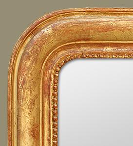 grand miroir chemin e louis philippe d cors grav s. Black Bedroom Furniture Sets. Home Design Ideas