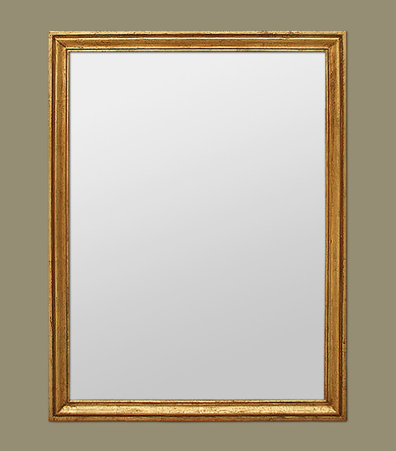 Miroir ancien chemin e moulure bois dor for Miroir bordure doree