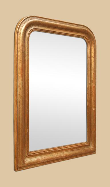 miroir dor cuivr style louis philippe ancien. Black Bedroom Furniture Sets. Home Design Ideas