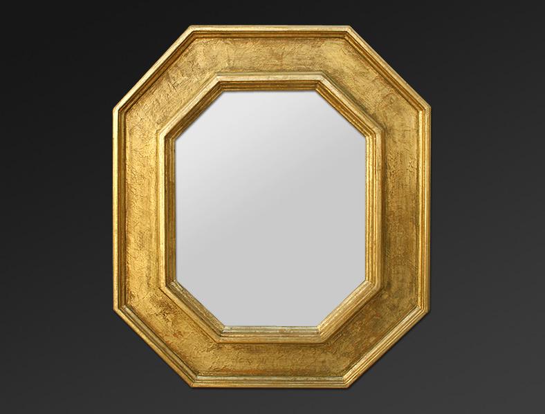 Miroir Renaissance Octogonal Dorure Or