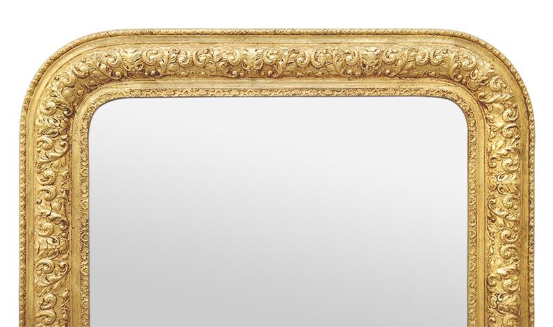 Miroir doré vintage style Louis-Philippe ancien