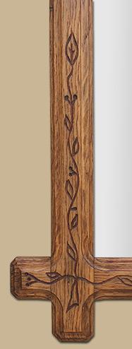 Glace miroir en bois art populaire - Encadrement bois pour miroir ...