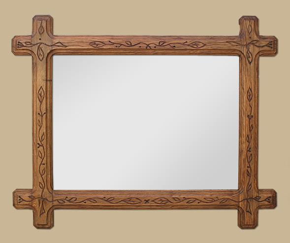 Glace miroir en bois, art populaire ~ Miroir Bois Clair