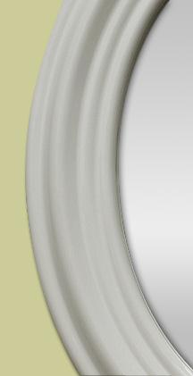 Glace miroir ovale ancien en faience blanche for Glace miroir moderne