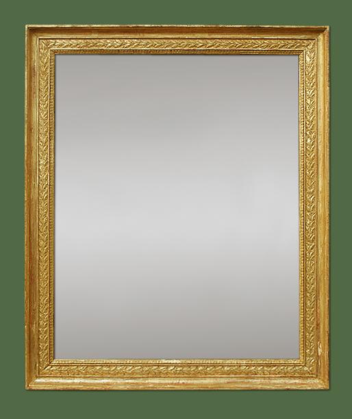 miroir empire d 39 poque d cor feuilles de laurier