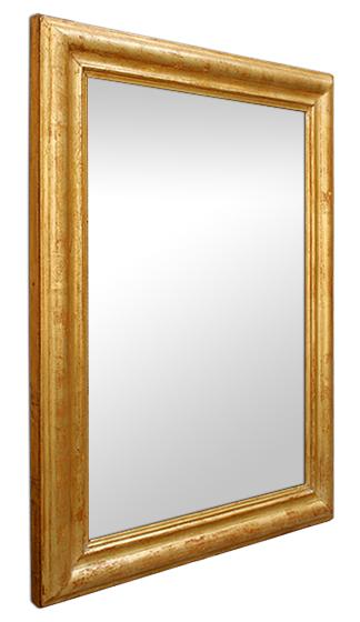 Miroir dor poque louis philippe for Glace miroir moderne