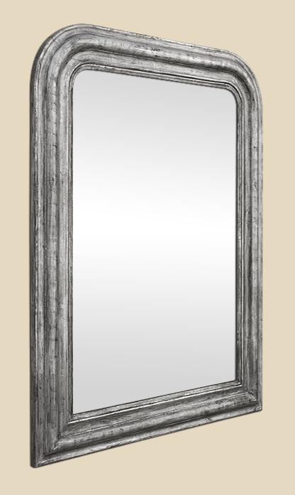 Miroir louis philippe argent patin ancien for Miroir ancien louis philippe
