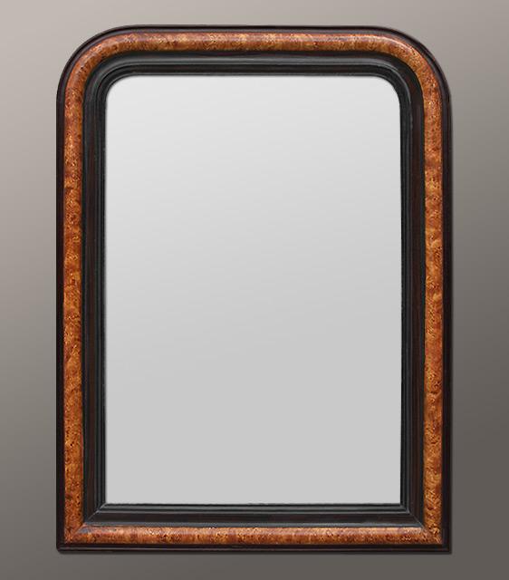 Miroir ancien louis philippe d cor imitation bois for Miroir loupe