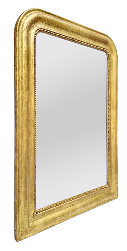 Miroir Louis Philippe doré ancien circa 1880