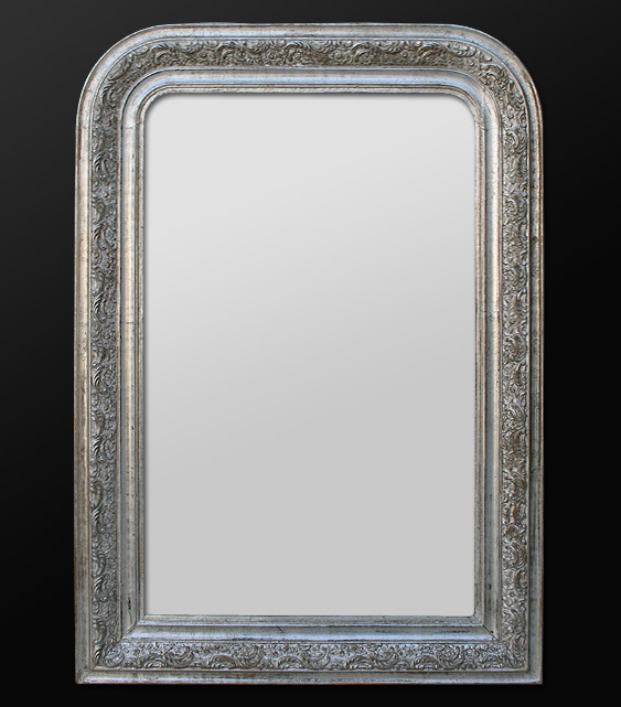 miroir louis philippe patine argent ancien. Black Bedroom Furniture Sets. Home Design Ideas