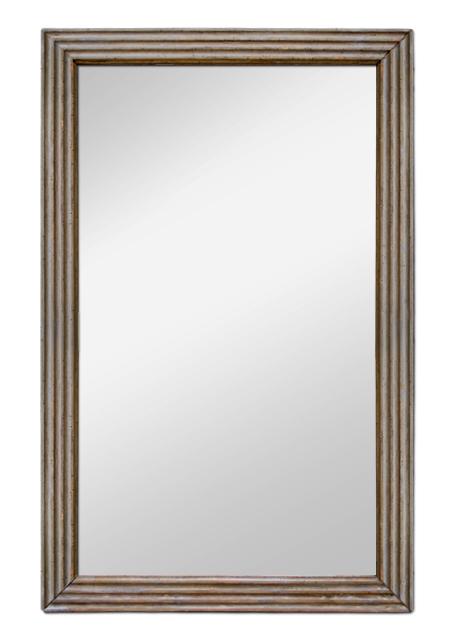 Miroir poque louis xvi bois sculpt gris trianon for Miroir bois gris