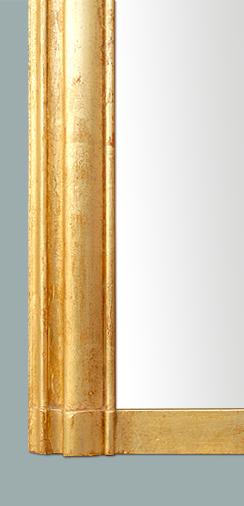 Large miroir cheminée moulure doré patiné -> Patine Sur Bois Ancien