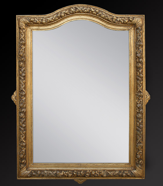 Miroir ancien napol on 3 bois dor for Collection miroir