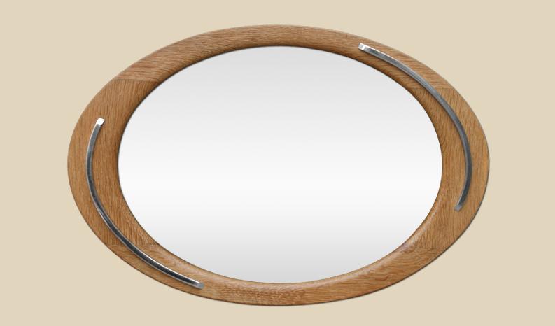 miroir ovale ancien en bois ann es 60. Black Bedroom Furniture Sets. Home Design Ideas