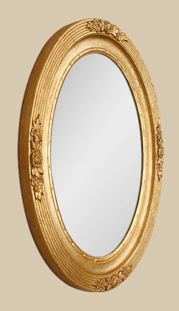 Miroir ovale dor d cor floral art nouveau 1900 for Glace miroir moderne