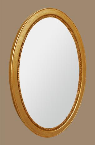 miroir ovale dor d co de chaine stylis e