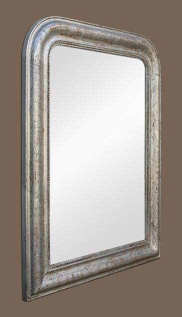 glace miroir louis philippe bois argent. Black Bedroom Furniture Sets. Home Design Ideas