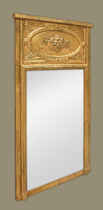 Miroir trumeau art nouveau for Miroir trumeau bois