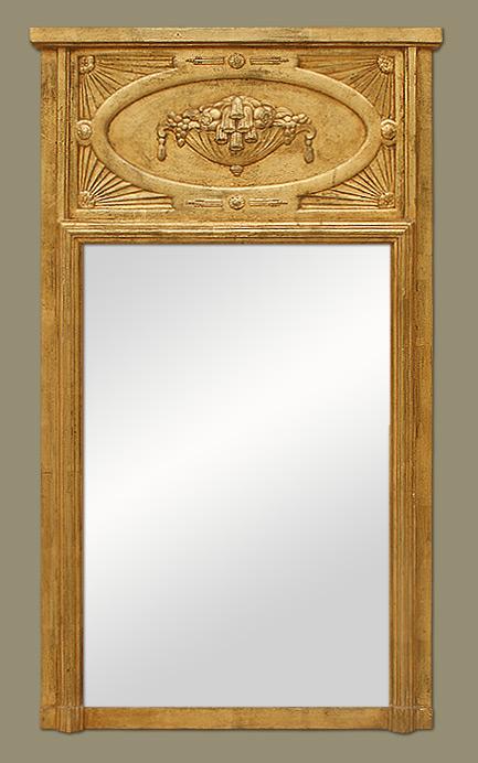 Miroir trumeau art nouveau for Miroir trumeau