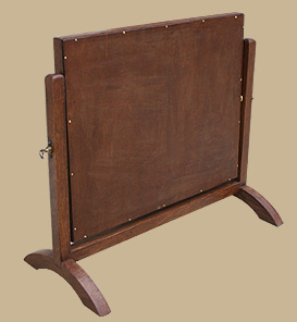 petit miroir sur pied miroir psych ancien miroir en bois. Black Bedroom Furniture Sets. Home Design Ideas