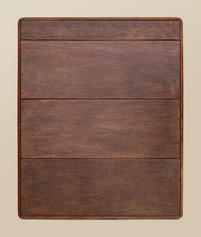 miroir ancien bois roux bords arrondis. Black Bedroom Furniture Sets. Home Design Ideas