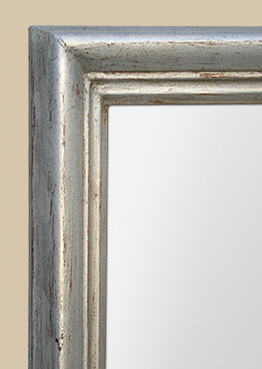 grand miroir chemin e argent patin. Black Bedroom Furniture Sets. Home Design Ideas