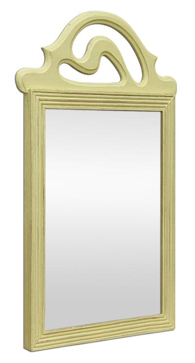 Petit miroir ancien fronton style art d co for Petits miroirs deco
