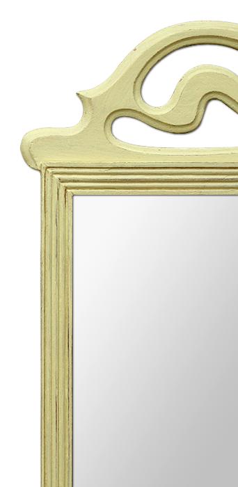 petit miroir ancien fronton style art d co. Black Bedroom Furniture Sets. Home Design Ideas