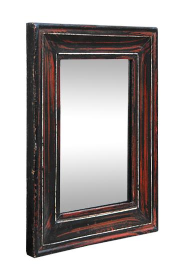 Petit miroir ancien d 39 epoque 1880 imitation bois d 39 acajou for Petit miroir blanc