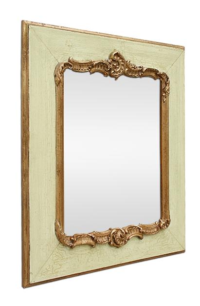 petit miroir ancien romantique style louis xv. Black Bedroom Furniture Sets. Home Design Ideas
