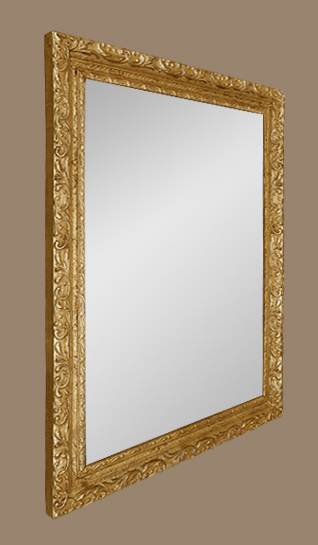 Glace miroir ancien bois dor stuc d cor de feuillages for Glace miroir moderne