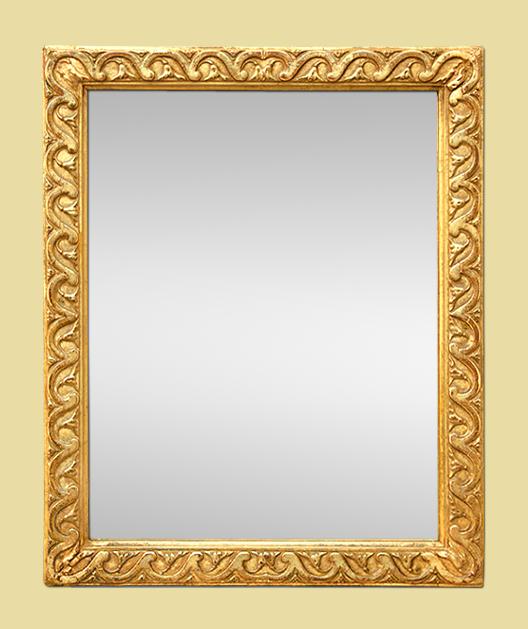 Petit miroir dor l 39 or fin poque 19 me for Petit miroir dore