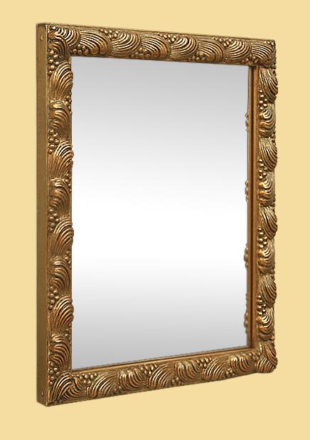 petit miroir dor ancien style 1900 d cor coquillages. Black Bedroom Furniture Sets. Home Design Ideas